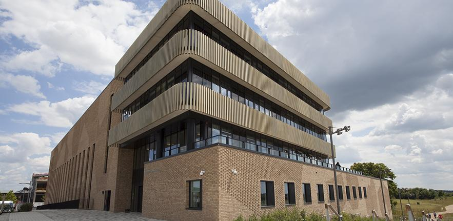 The new Department of Materials Science and Metallurgy building on Charles Babbage Road, Cambridge